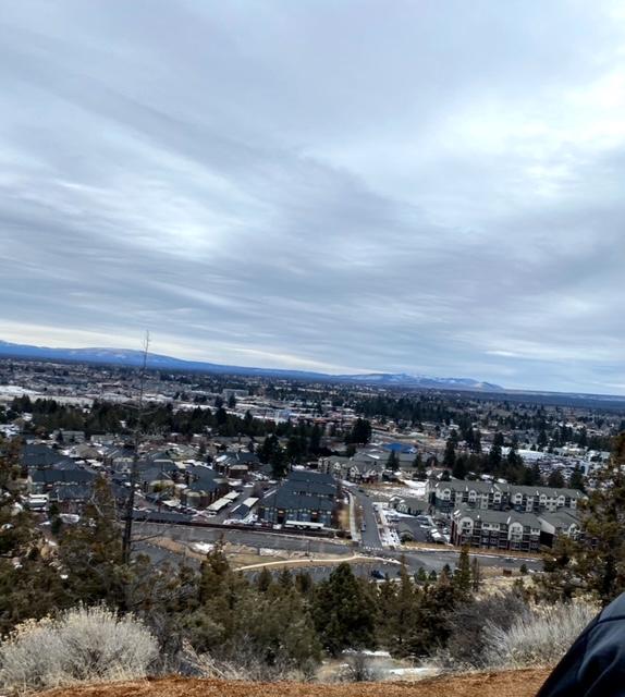 Running up Pilot Butte