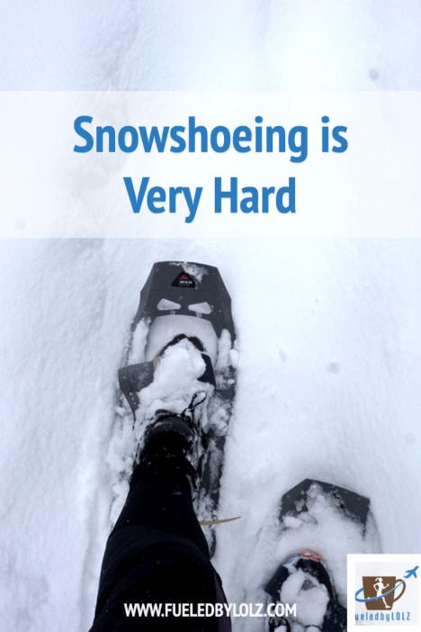 Snowshoeing is Very Hard