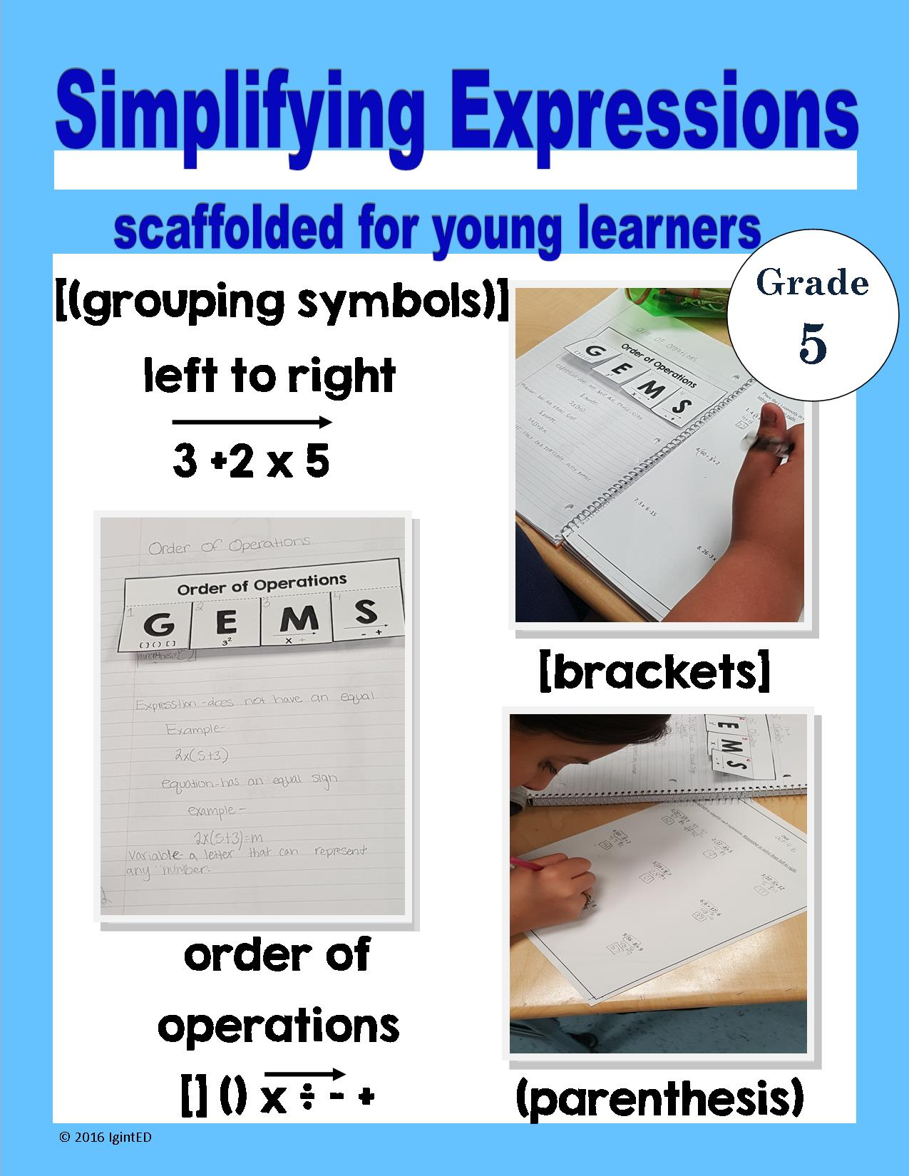 Order Of Operations Simplifying Expressions