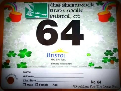Bristol Shamrock Run & Walk - Bib