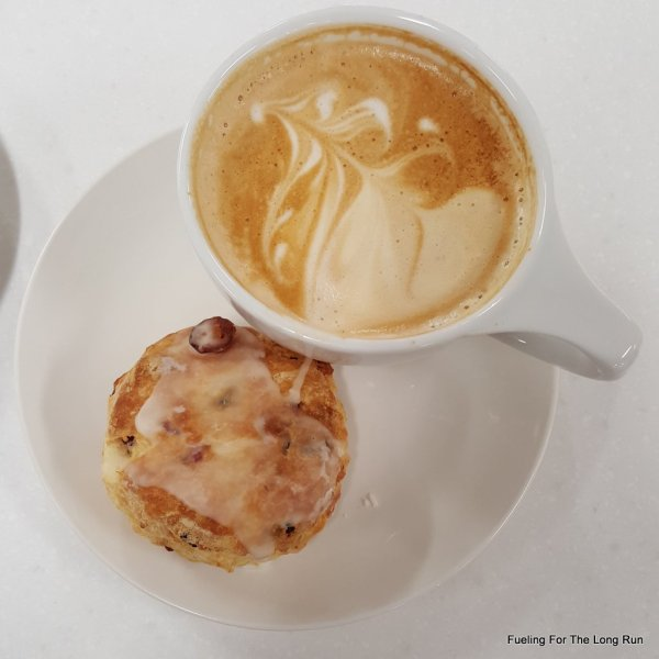Latte and Cranberry Scone