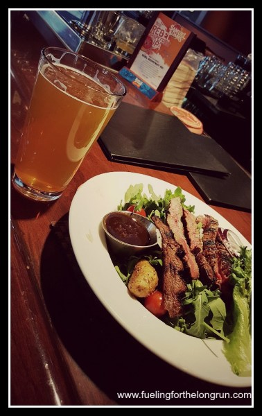 OnFire Grill - Salad and Beer