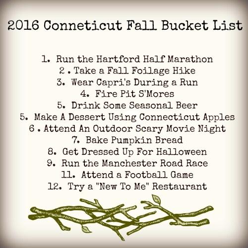 Connecticut Fall Bucket List