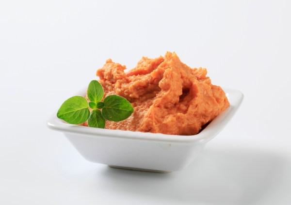 Bowl of vegetarian spread or dip