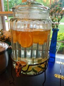 lemon-lime infused water