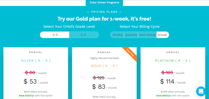 Thinkster Plans with Pricing