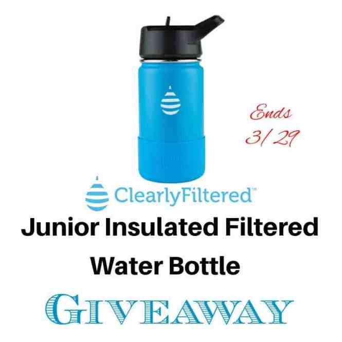 Junior Insulated Filtered Water Bottle Giveaway