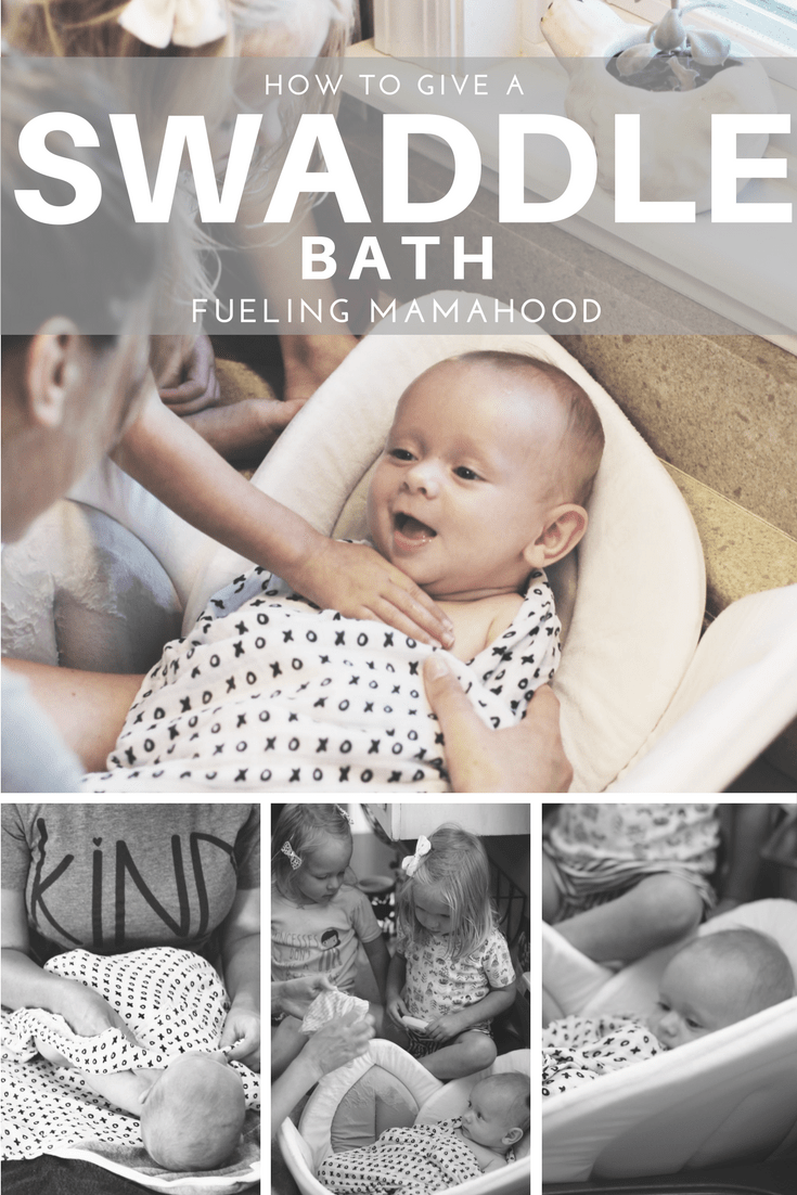 swaddle bath | step by step guide - Fueling Mamahood