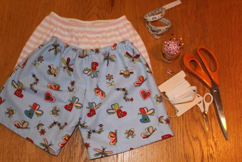 Kids Pyjama Shorts Without Using a Pattern