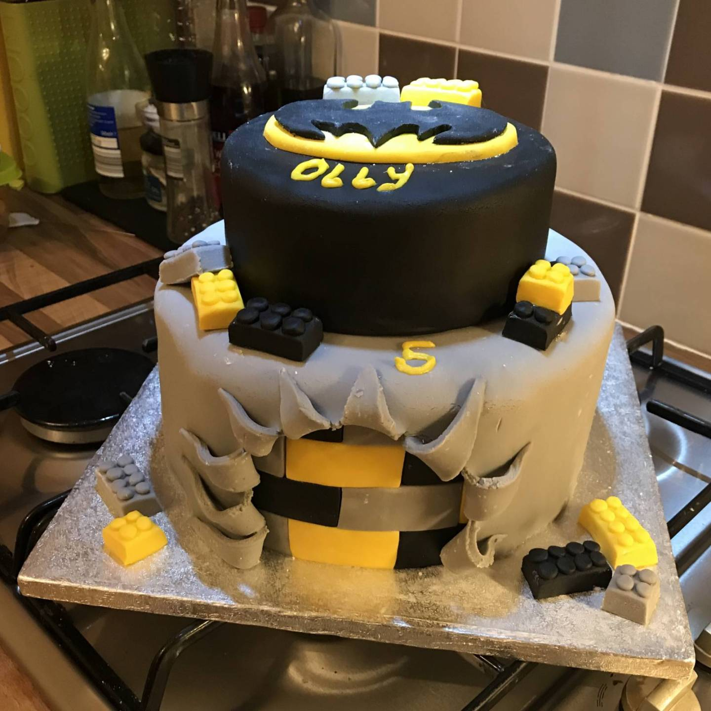 Groovy Lego Batman Birthday Cake Personalised Birthday Cards Veneteletsinfo