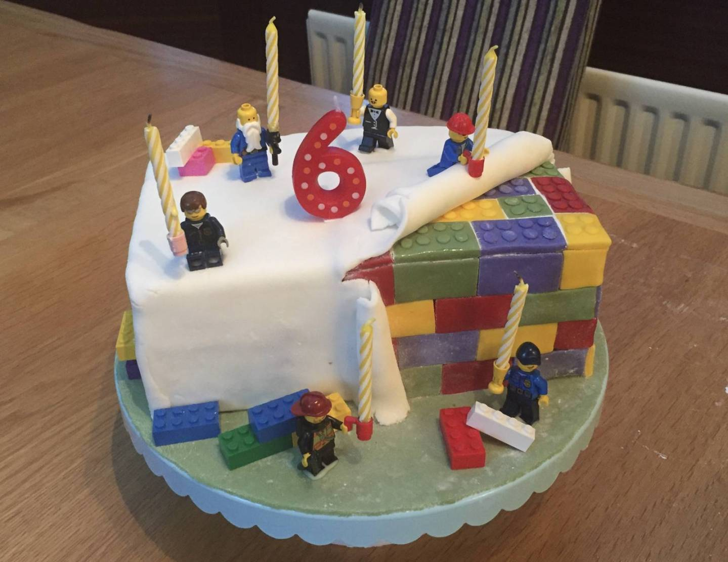 Excellent Easy Lego Birthday Party And Cake Personalised Birthday Cards Veneteletsinfo