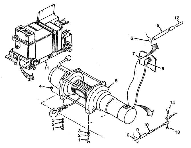 Figure 2-33. Winch and Cables Replacement