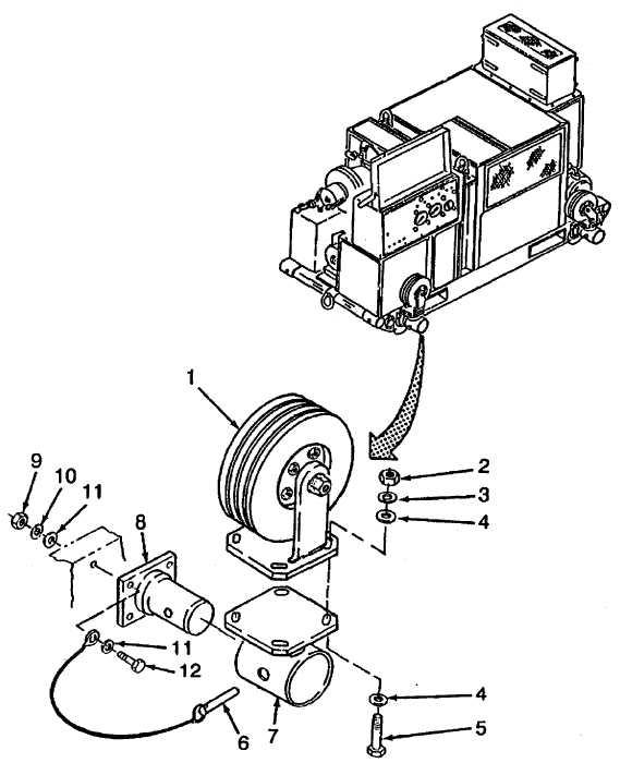 Figure 2-116. Wheel, Detent Pin, Gear Mount and Pivot