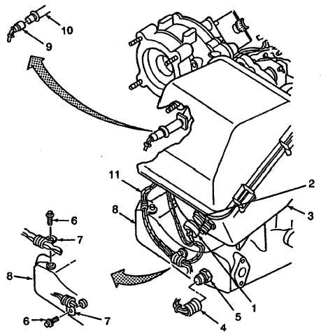 Figure 3-42. Engine Wiring Harness W1 (OIL PRESSURE SWITCH