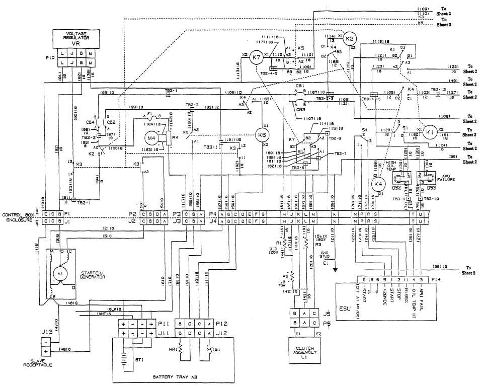 Figure FO-2. 600 GPM PUMP WIRING Diagram (Sheet 1 of 3)
