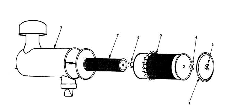 Figure 4-9. Air Cleaner Disassembly