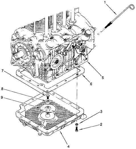 Figure 6-2. Engine Oil Pan Removal
