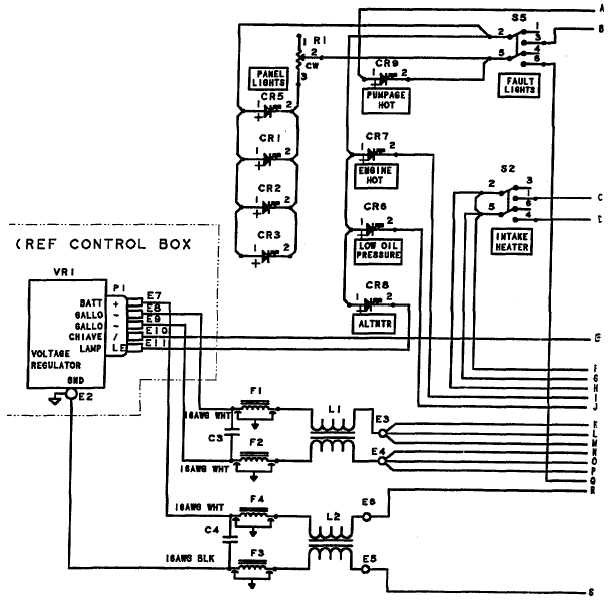 Figure J-1. Control Panel Wiring Diagram (Sheet 1 of 2)
