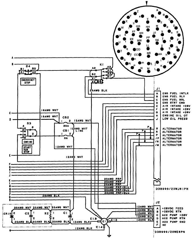 Figure J-1. Control Panel Wiring Diagram (Sheet 2 of 2)