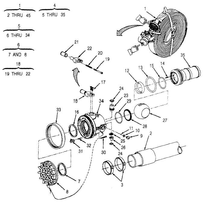 Figure C-9. Discharge Hose Assembly (Sheet 1 of 2)