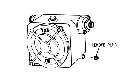 Figure 2-3. Pump draining instructions