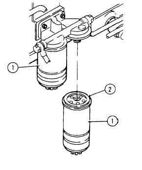 REPLACE FUEL FILTER CARTRIDGES