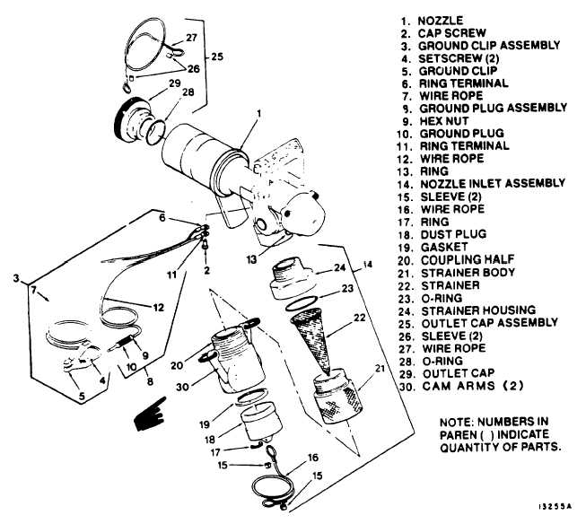 Figure 4-1. Closed Circuit Refueling (CCR) Nozzle Assembly