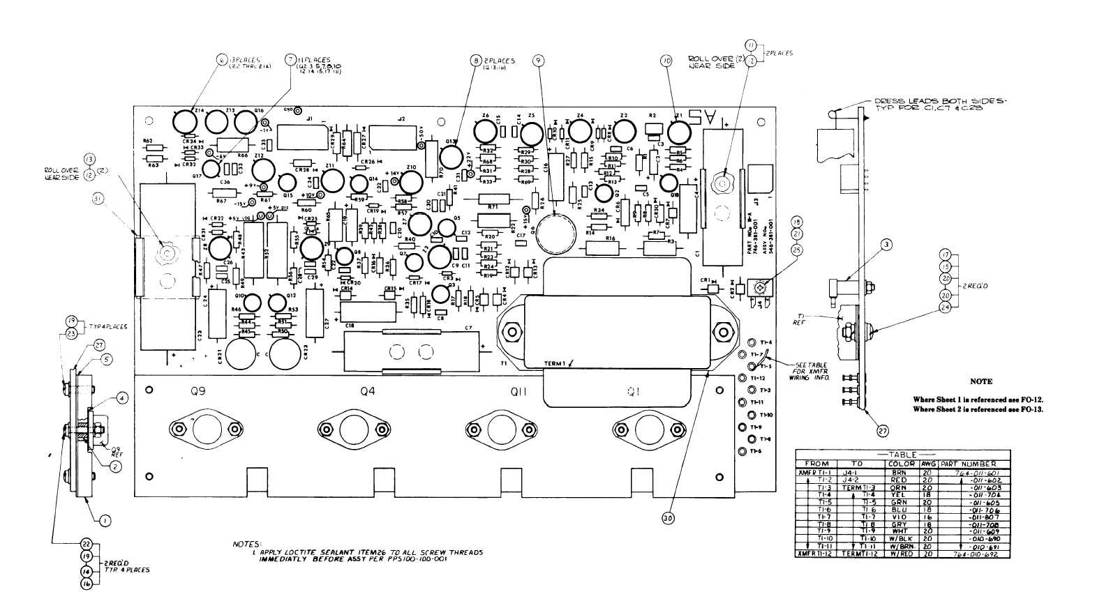 Fo 12 Circuit Board A 5 Component Location Diagram For