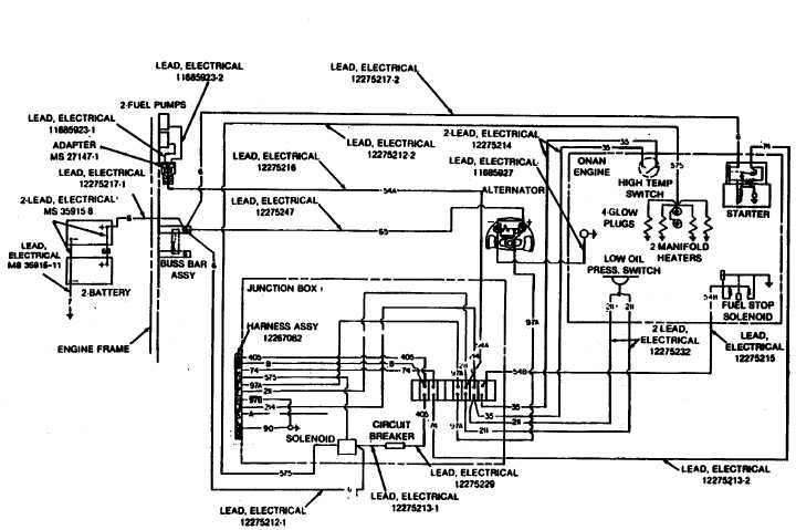 Figure H-2. ENGINE WIRING SCHEMATIC