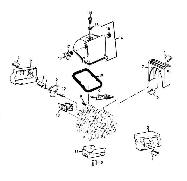 Figure 7. Engine Shroud, Rocker Arm Covers.