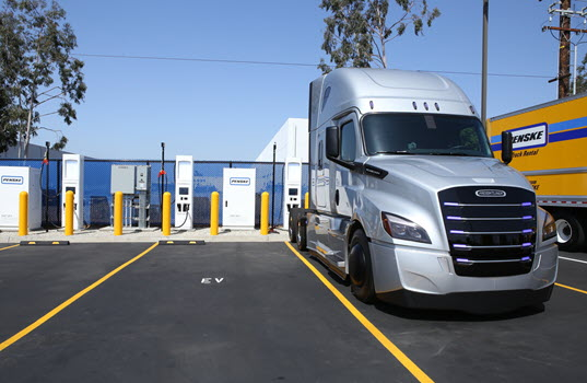 Penske Truck Leasing Opens High-Speed Commercial  Electric Truck Chargers in Southern California