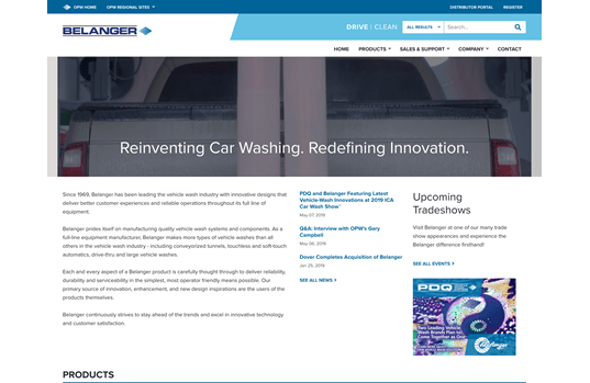 Belanger Launches New Website to Serve as  Brand's Digital Hub under OPW Vehicle Wash Solutions