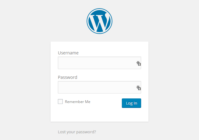 WordPress E-Commerce Login