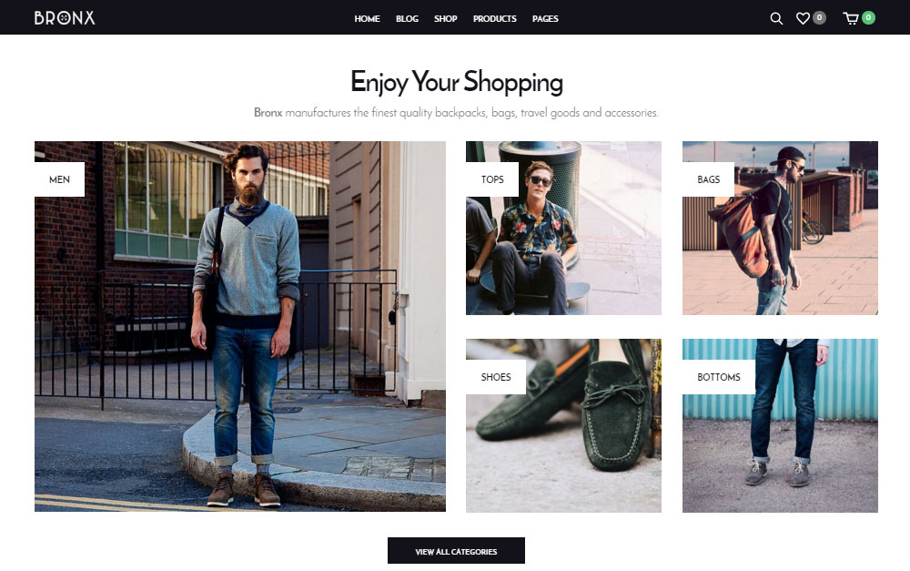 WordPress E-Commerce Theme Bronx