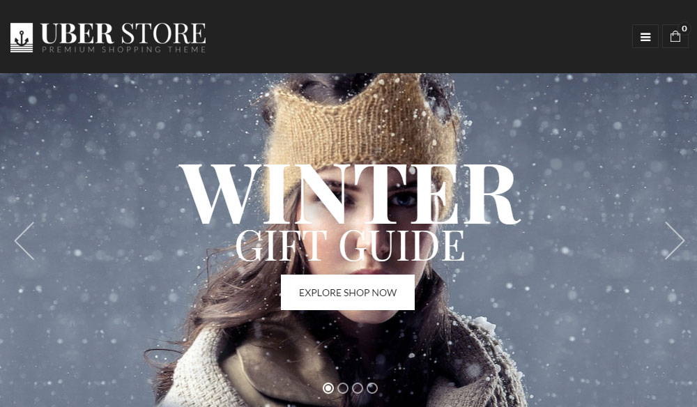 WordPress E-Commerce Theme UberStore