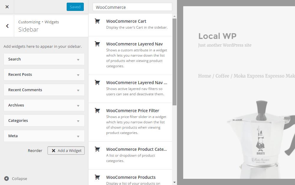 WordPress E-Commerce Widgets