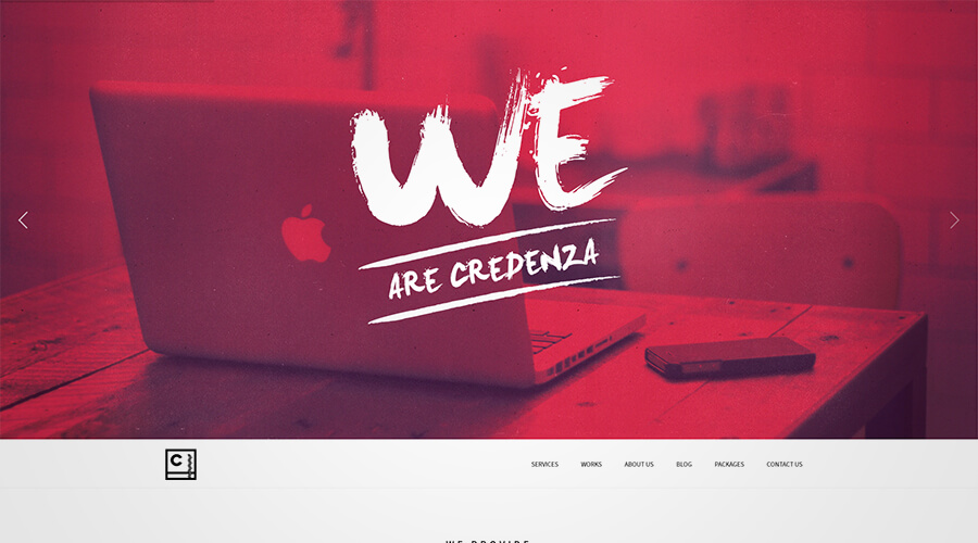 WordPress One Page Themes: Credenza
