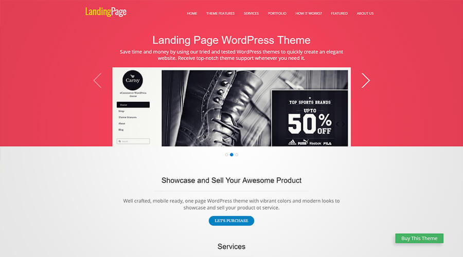 WordPress One Page Themes: Landing Page