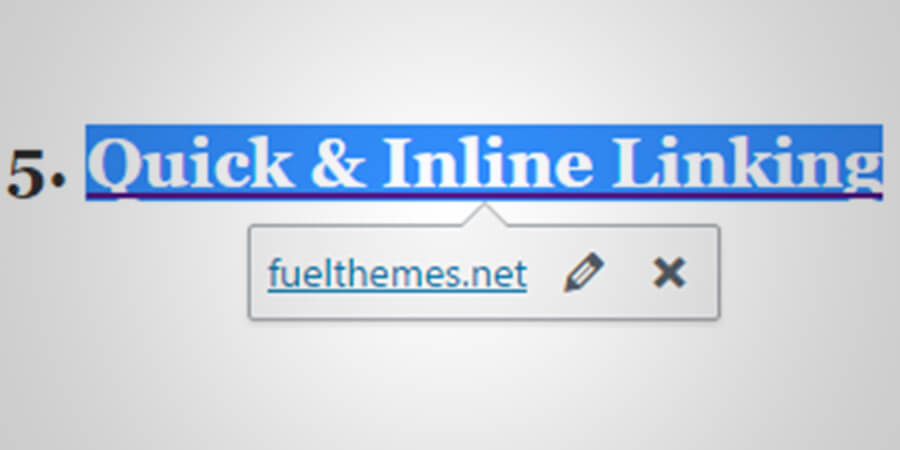 Unknown WordPress features: Inline Links