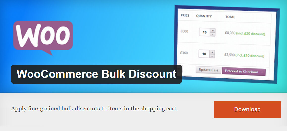 Free WooCommerce extensions: Bulk Discount
