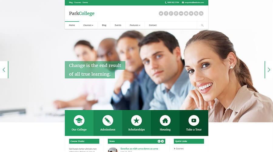 WordPress Education Themes: Park College