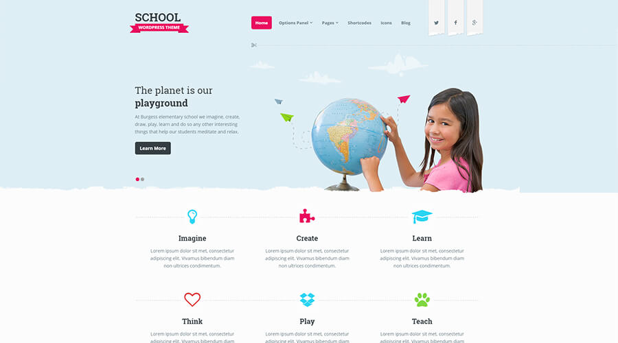 WordPress Education Themes: School