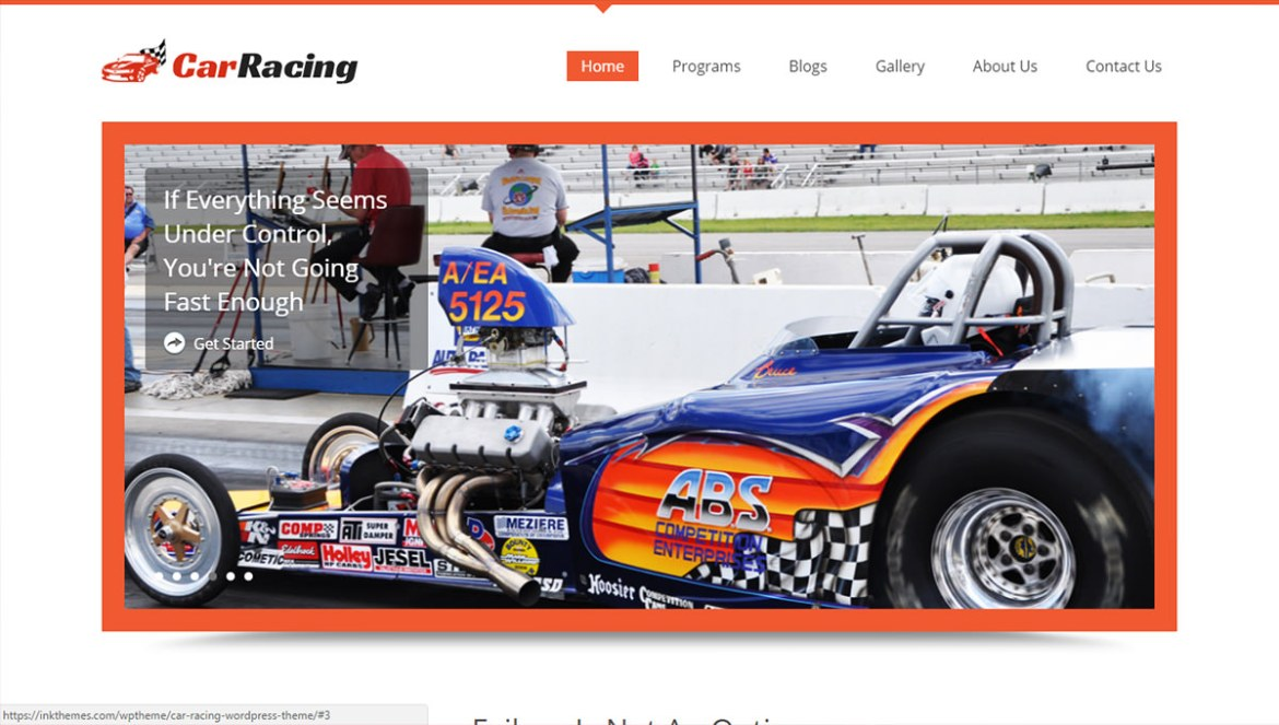 WordPress Sports Themes: carracing