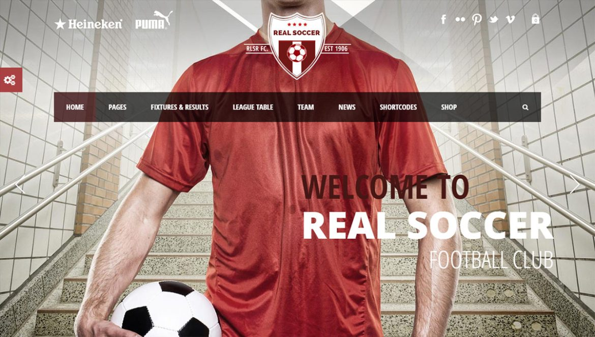 WordPress Sports Themes: realsoccer