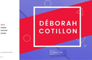 Deborah Cotillon WordPress Theme