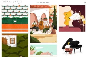 Irina Perju WordPress Theme