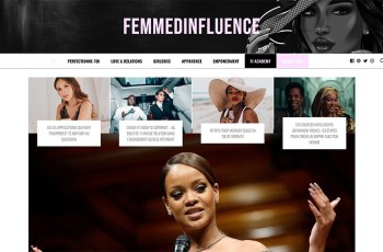 Femme d'Influence Magazine WordPress Theme