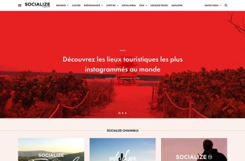 Socialize Magazine WordPress Theme