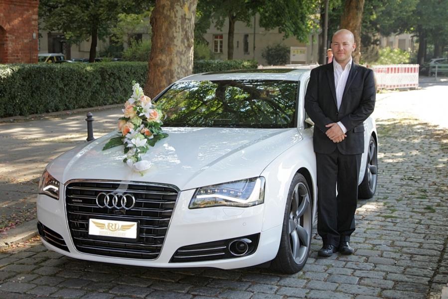 Hochzeitsauto in wei Audi A8 S Klasse CL500 CLS BMW