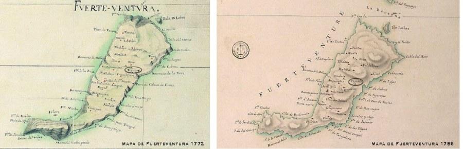 Fuerteventura en los mapas del siglo XVIII